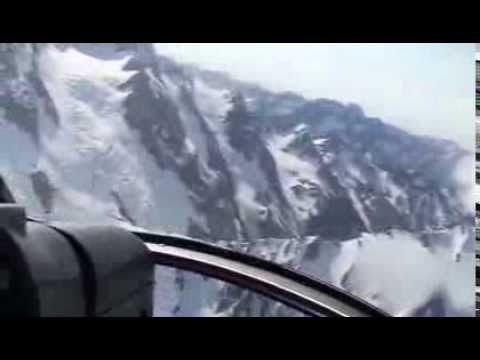 A thrilling helicopter-ride over the South Alps in  New Zealand