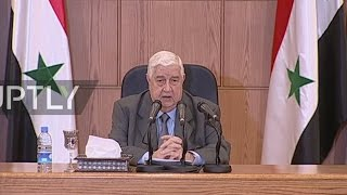 Syrian FM responds to gassing allegations