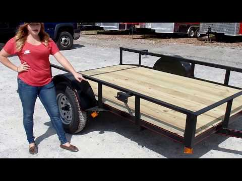 Utility Trailer 6.4' X 10' Reinforced Dove Tail Gate