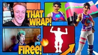 Streamers React To New World Cup Skin, New Animated Wrap & Revel Emote! - FortniteChamp!