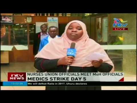 Nurses Union officials meet Ministry of Health officials - #HealthCrisis