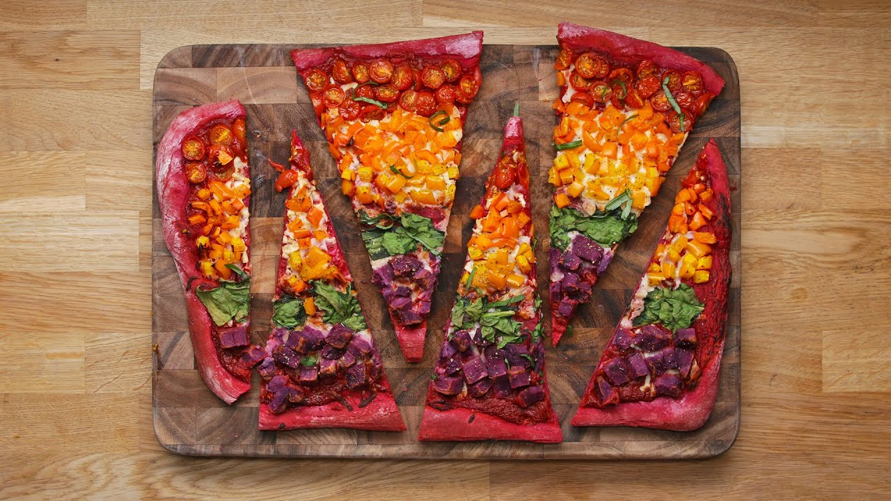 Rainbow Sheet-Pan Pizza