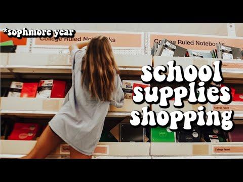 school supplies shopping vlog *SOPHMORE YEAR