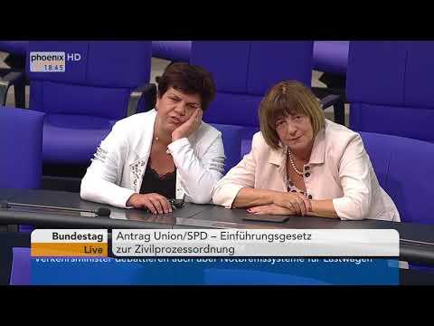 Bundestagsdebatte über das Einführungsgesetz zur Zivilprozessordnung vom 19.04.18