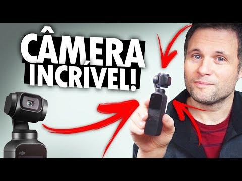 DJI OSMO POCKET - Menor câmera com estabilizador, 4k, 60fps - UNBOXING E PRIMEIRAS IMPRESSÕES