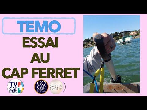 TEMO Moteur électrique 01 En bateau avec le propulseur électroportatif  Cap Ferret Bassin d'Arcachon