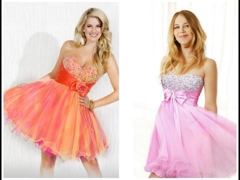 Красивые длинные и короткие пышные платья