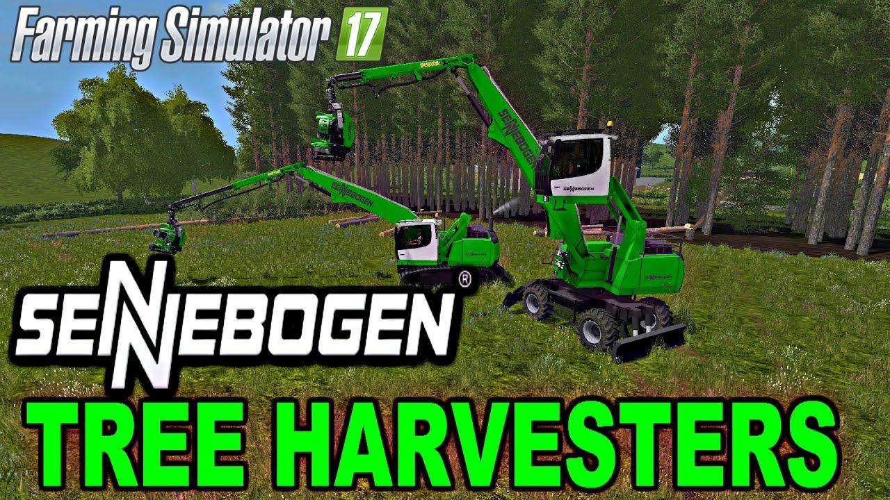 Fs 17 Mods Sennebogen Tree Harvesters Youtube