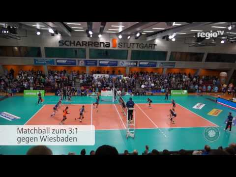 Matchball Allianz MTV Stuttgart vs. VC Wiesbaden