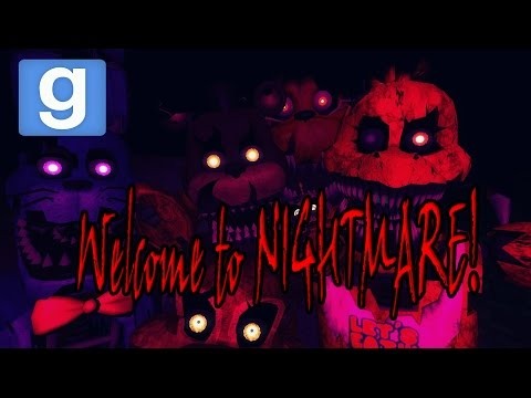 Веселье в Garry's mod: FNAF 4 В GMOD! Five Nights at Freddy's (Minecraft Style)