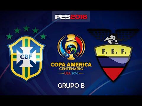Brasil x Equador - Grupo B - Copa América Centenário - PES 2016 (PS4)