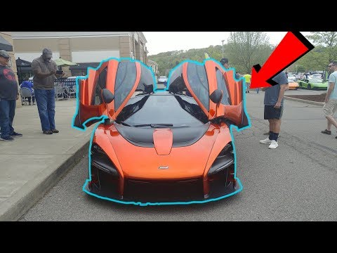 MCLAREN SENNA AT A CAR SHOW!