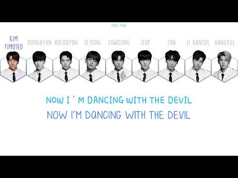 The Unit (더 유닛 ) Team Blue/Unit Plus - Dancing With The Devil Lyrics [Han/Rom/Eng]