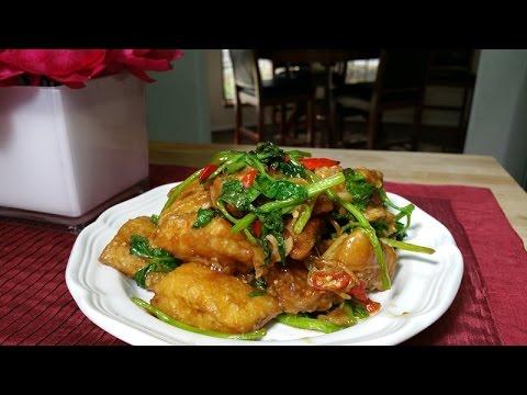 ปลานิลผัดขึ้นฉ่าย Stir Fried Fish with Chinese Celery