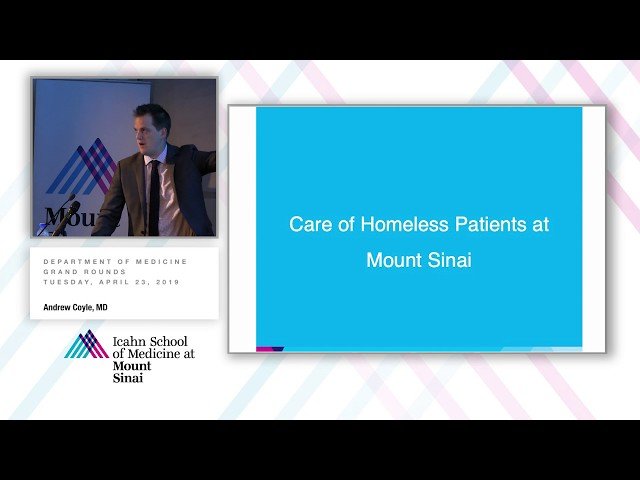 Caring For Homeless Persons: Moving From Data to Action