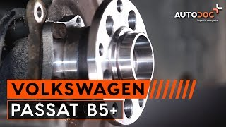 Replacing Wheel bearing kit on VW PASSAT: workshop manual