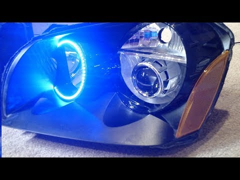 Retrofit projector HID headlights and LED halos part 1