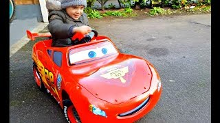 Alex Ride on Red  Car  Kids Song