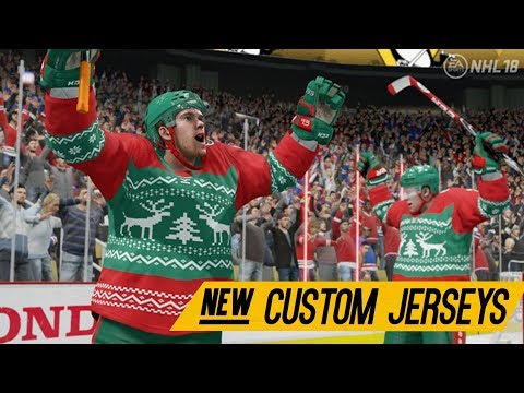 NHL 18 HUT News | NEW CUSTOM CHRISTMAS & ONLINE SEASON JERSEYS