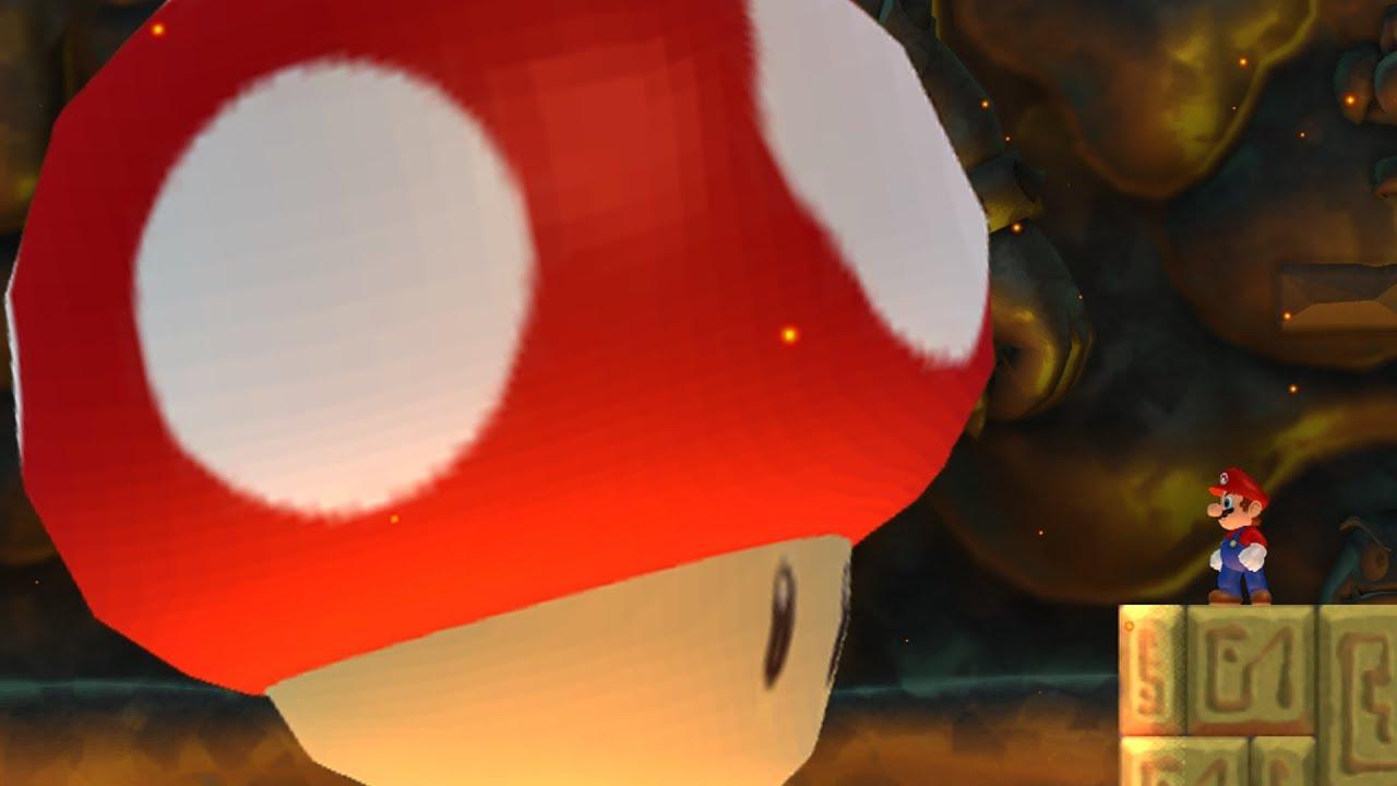 New Super Mario Bros Wii Final Boss Evil Mushroom Ending Youtube