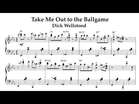 Take Me Out To The Ballgame Easy Piano Sheet Music Youtube