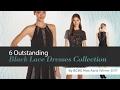 6 Outstanding Black Lace Dresses Collection By BCBG Max Azria Winter 2017