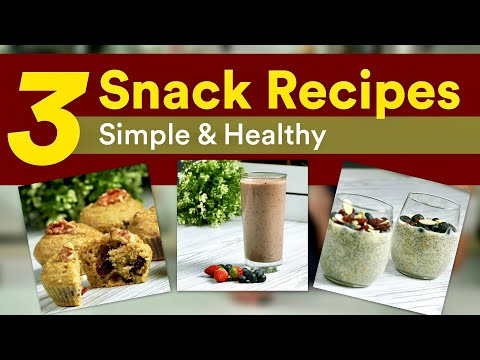 3 Healthy Snack Recipes to Try (Only 5 - 8 Ingredients Each!!) | Joanna Soh