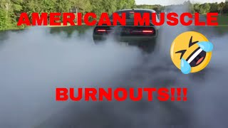American Muscle Burnouts with our Dodge Challenger