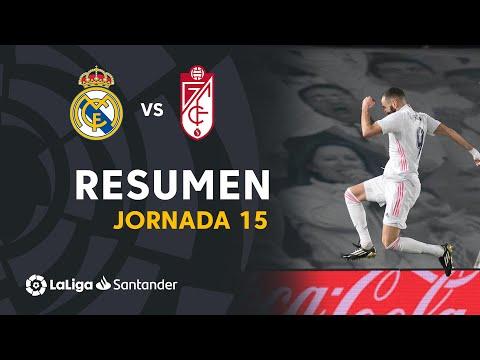 Resumen de Real Madrid vs Granada CF (2-0)