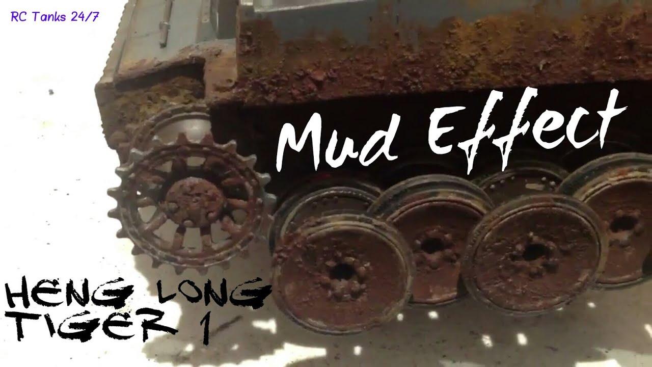Mud Effect Full Metal Heng Long Tiger 1 Rc Tank Youtube