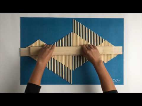DIY - Making an Aztec Style wooden stick wall art