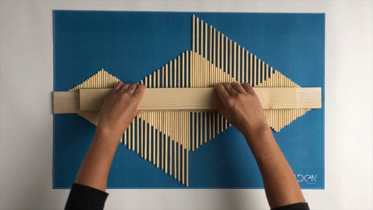DIY   Making An Aztec Style Wooden Stick Wall Art   YouTube