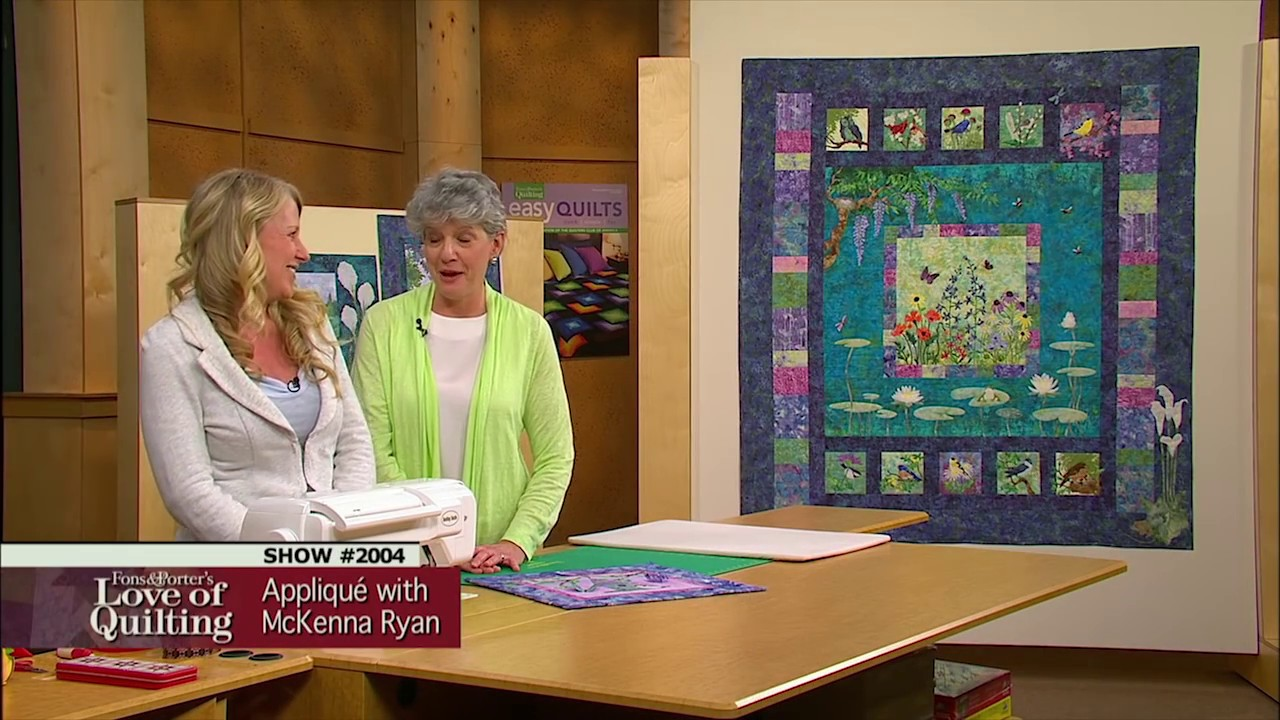 Love Of Quilting Preview Easy Pictorial Appliqu With Mckenna Ryan
