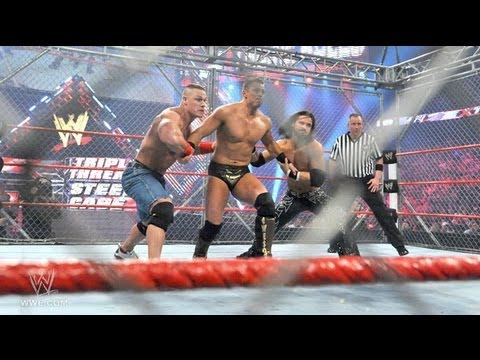 John Cena vs. The Miz vs. John Morrison - Steel Cage Match ...