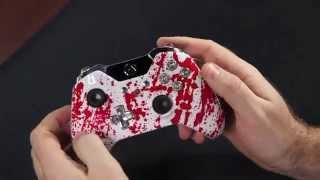''Éclaboussure de sang Balle de 9mm Boutons'' Xbox ONE Personnalisée Modded Contrôleur - COD ''AW'' & ''Battlefield''