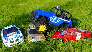 Мультик про машинки - 210 серия:  Полицейская погоня, Гоночная машина, Авария