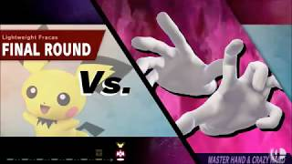 SSBU: PICHU vs Masterhand and Crazyhand!