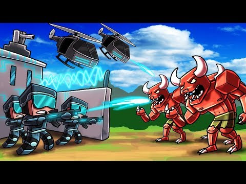 Minecraft | Good vs Evil - HUMAN BASE ATTACKED BY DEMON HORDE!