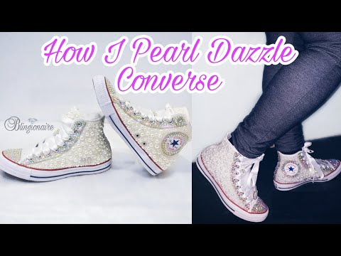 a9314f78398869 How I Pearl Dazzled Converse - YouTube