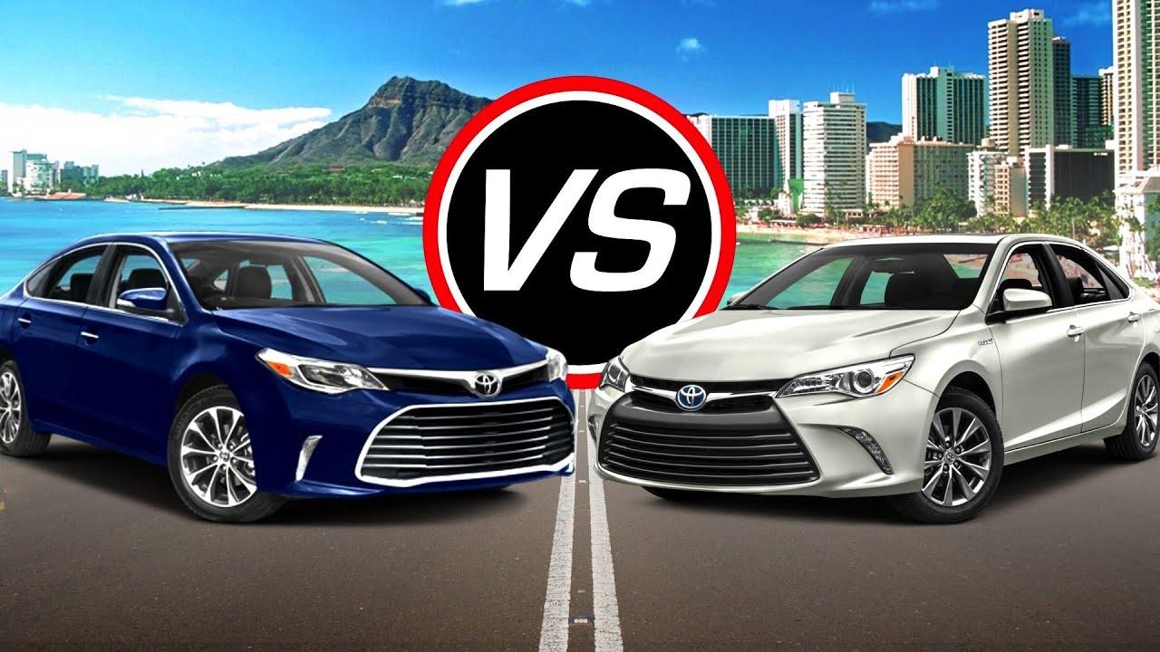 2016 Toyota Avalon Vs Camry Hybrid Spec Comparison