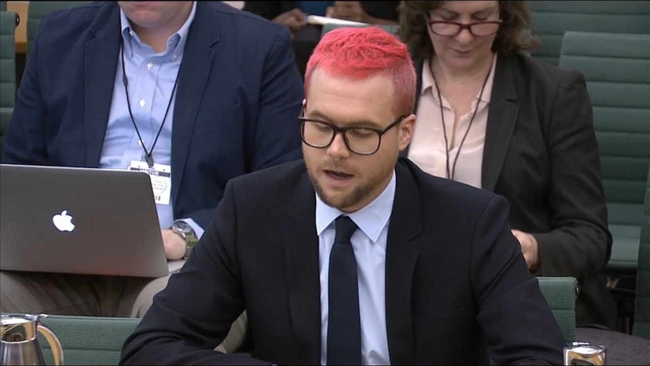 Cambridge Analytica whistleblower Christopher Wylie appears before MPs