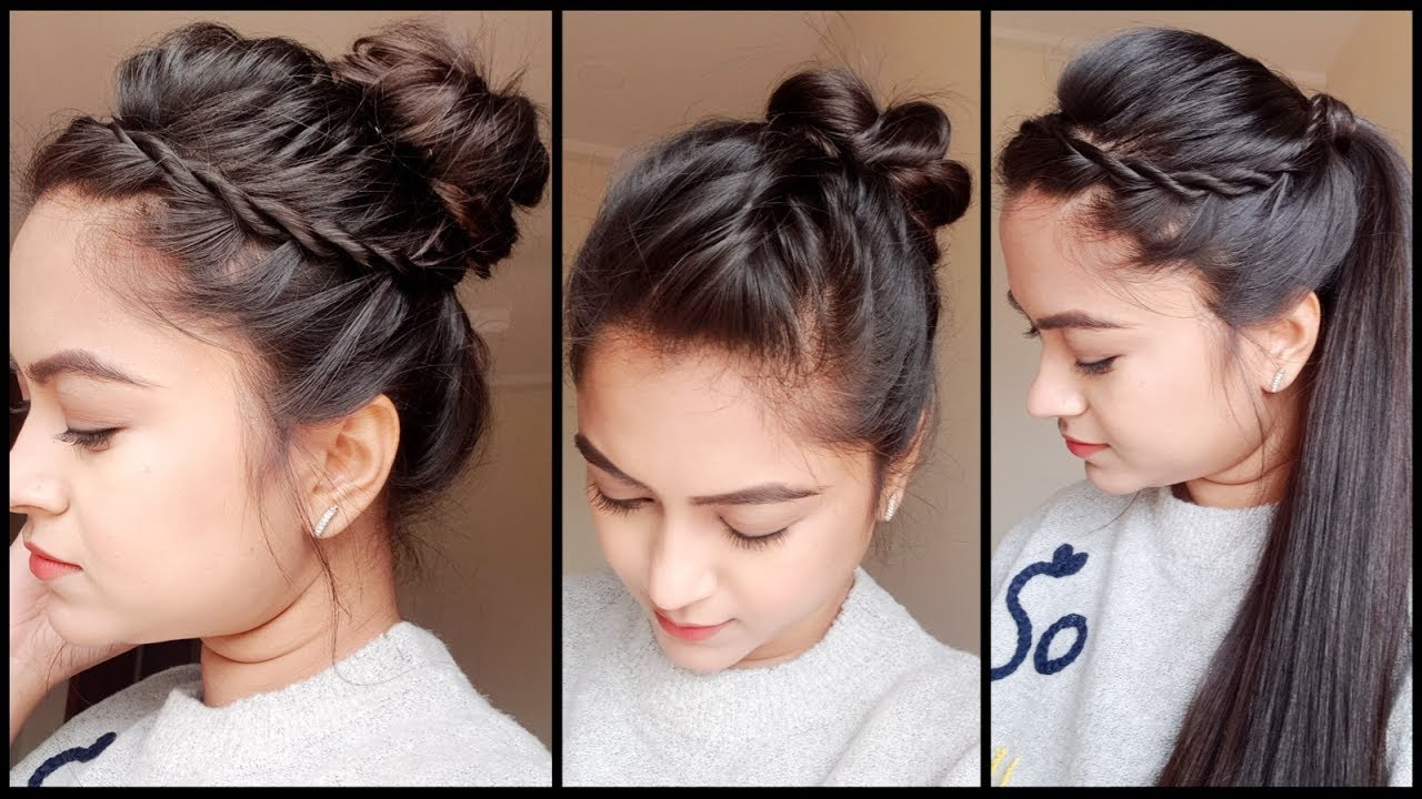 3 Quick Easy Holiday Hairstyles For Medium Long Hair Easy Indian Hairstyles For Girls
