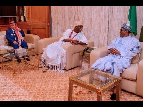Buhari Receives Ooni Of Ife At Presidential Villa