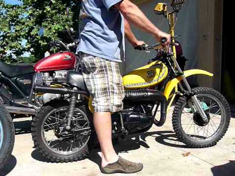 1975 yz80b for sale 1800 , new engine - YouTube