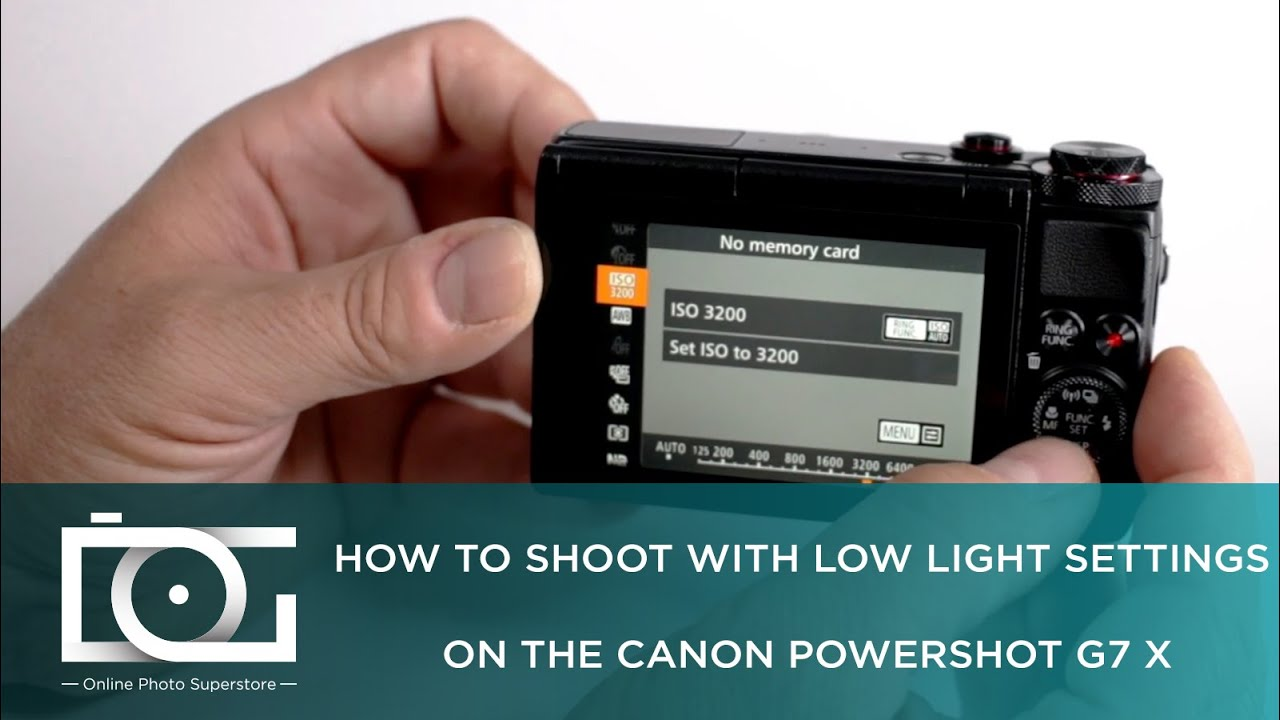 Tutorial How To Shoot With Low Light Settings On Canon Powershot G7 X Youtube