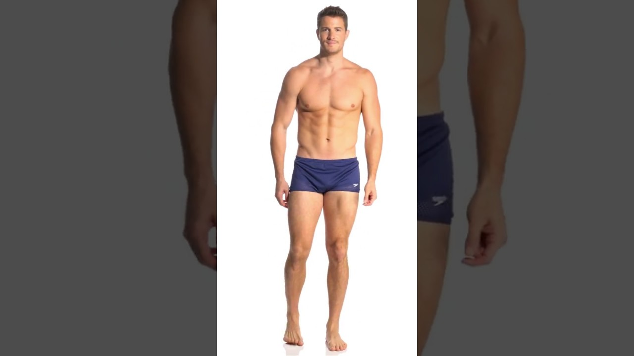 bfdd72858e Speedo Male Polymesh Training Swimsuit   SwimOutlet.com - YouTube