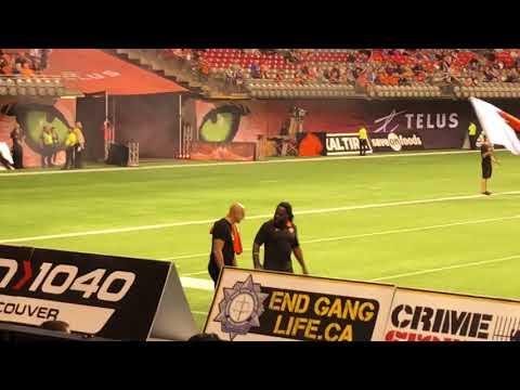 BC Lions intro vs Ottawa