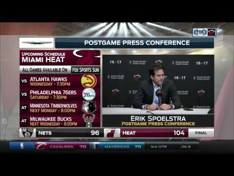 Erik Spoelstra - Miami Heat vs. Brooklyn Nets postgame 1/30/17