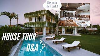 House Tour Q&A - WE BUILT OUR DREAM BALI HOUSE