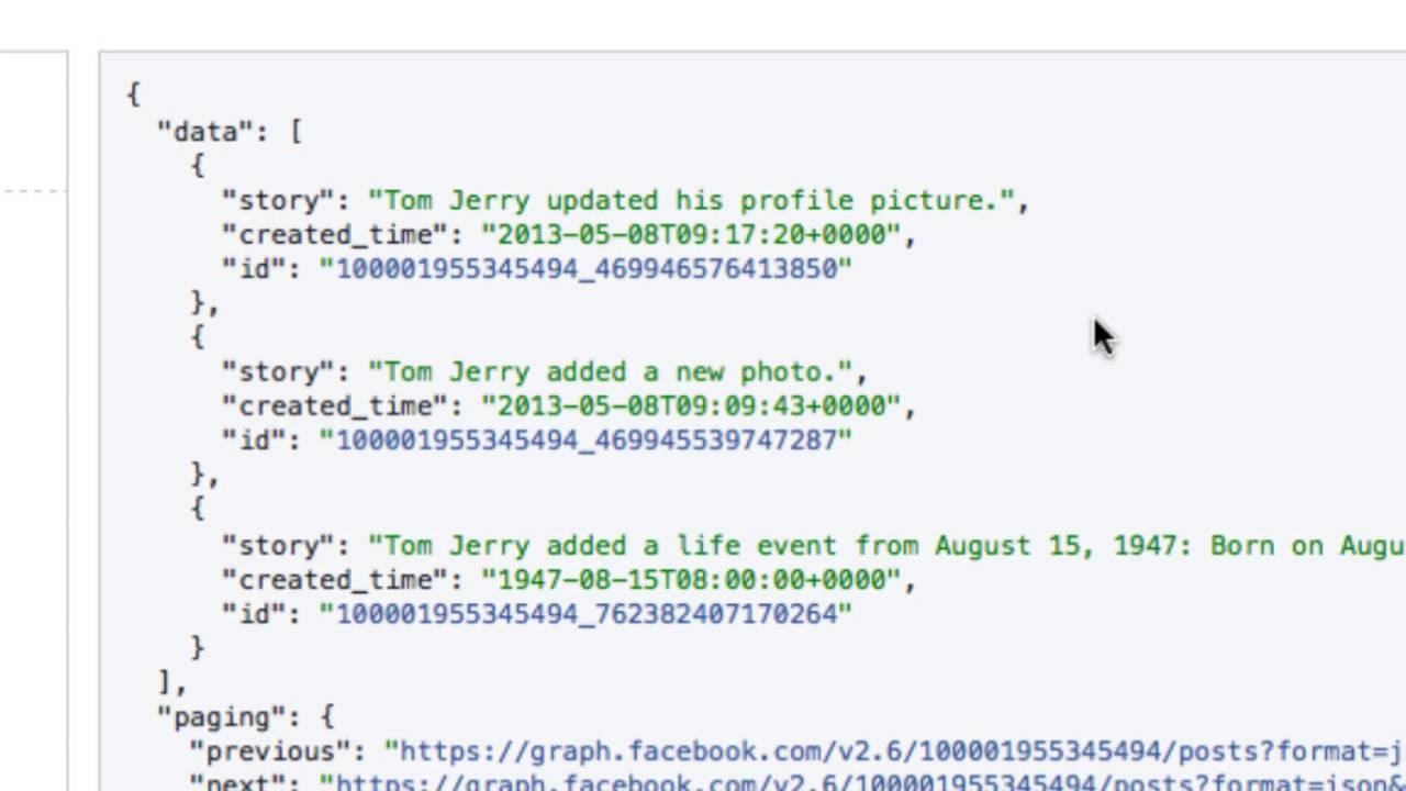 facebook date format api